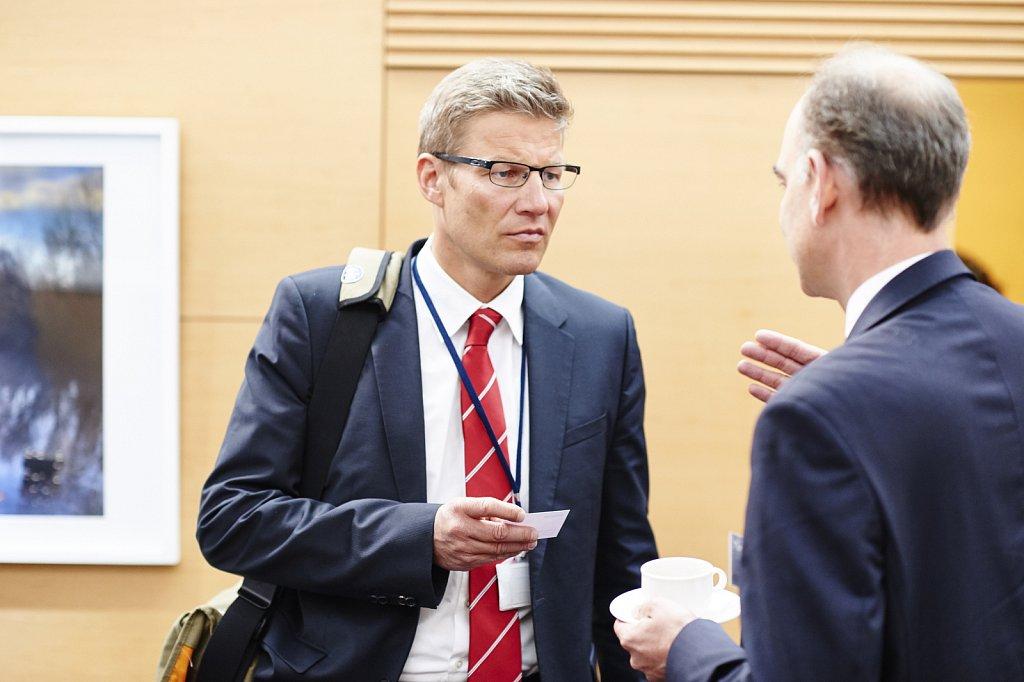 Stefan Appel and event participant
