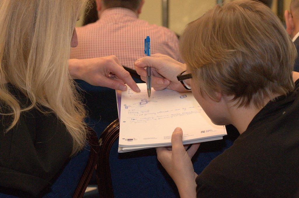 Event participants discussing new ideas