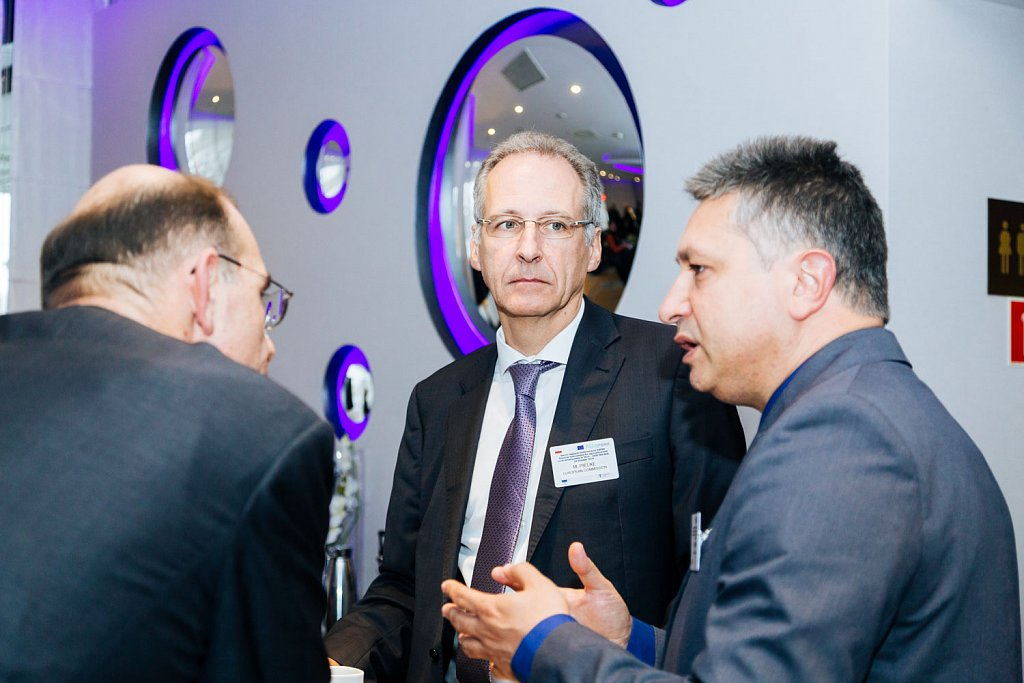Event participant with Michael Pielke and Nivelin Noev
