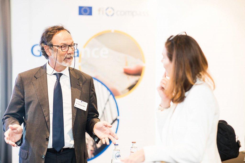 Mr Maurizio Guglielmini and event participant