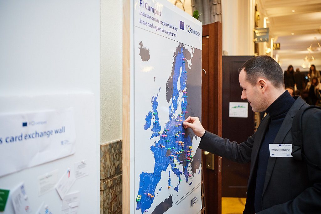 Event participant indicating his origin country in the EU Map