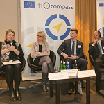 Marta Leśniak, Regional Operational Programmes Department, Ministry of Economic Development, Poland; Agata Matusiak, European Investment Bank; Gedas Janėnas, Šiaulių Bankas, Lithuania; Luigi Amati, META Group, Italy